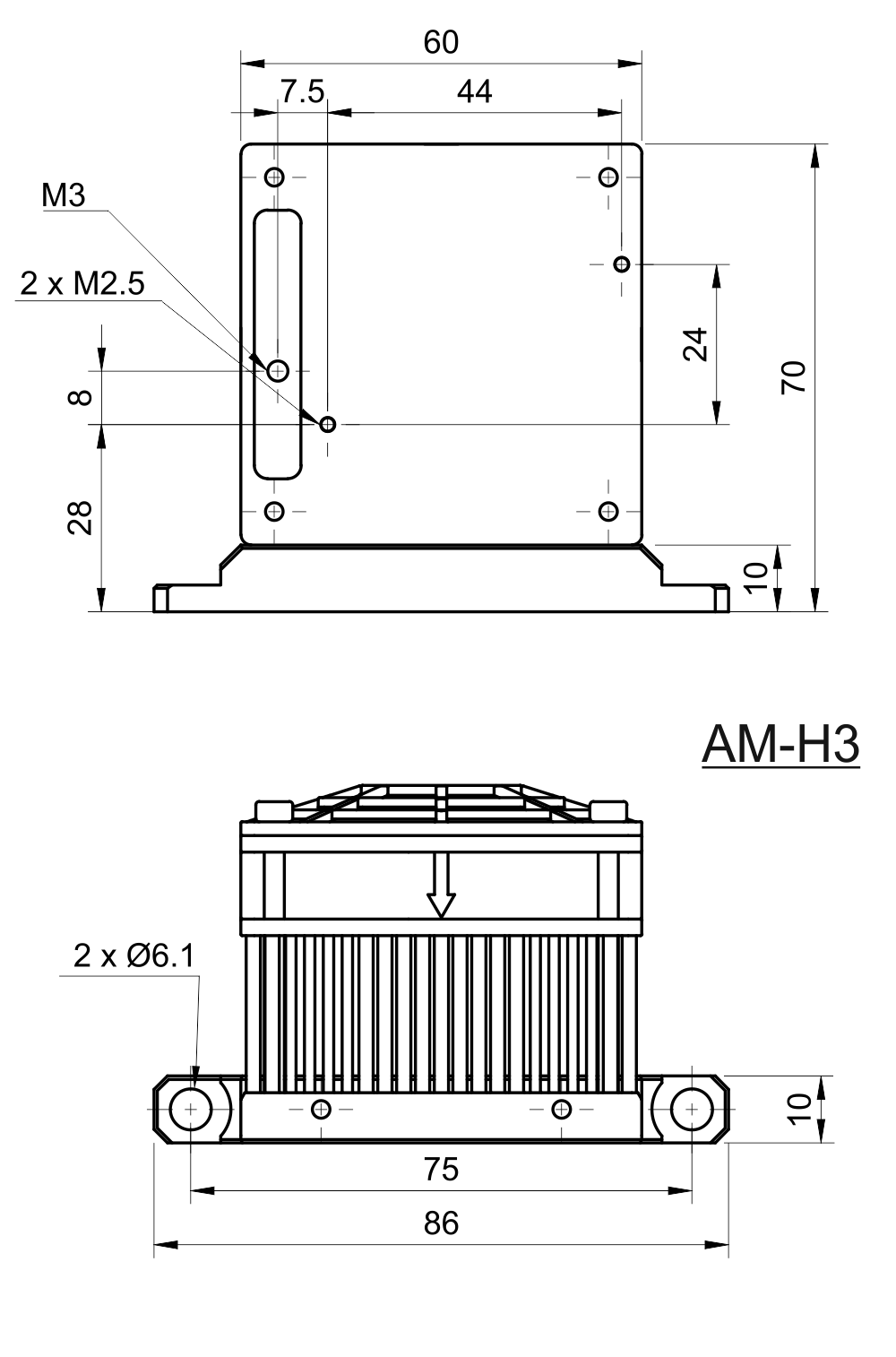 Drawing of Fan Cooler for MatchBox®