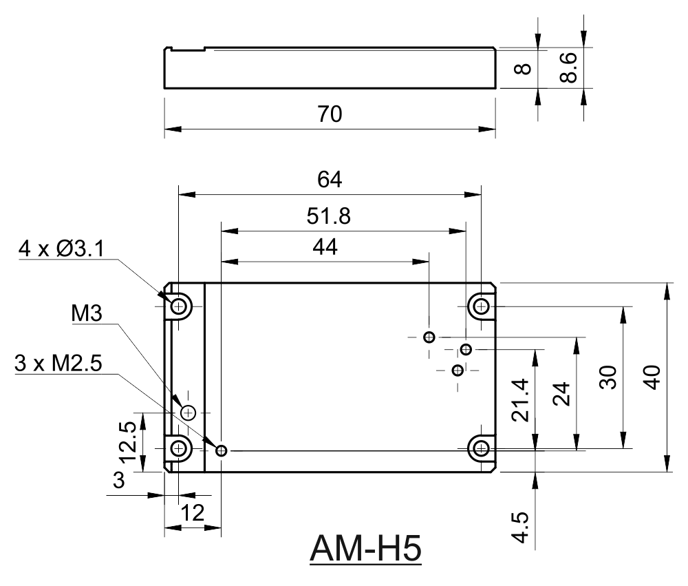 Drawing of Replacement Adapter For Coherent OBIS Type of Lasers