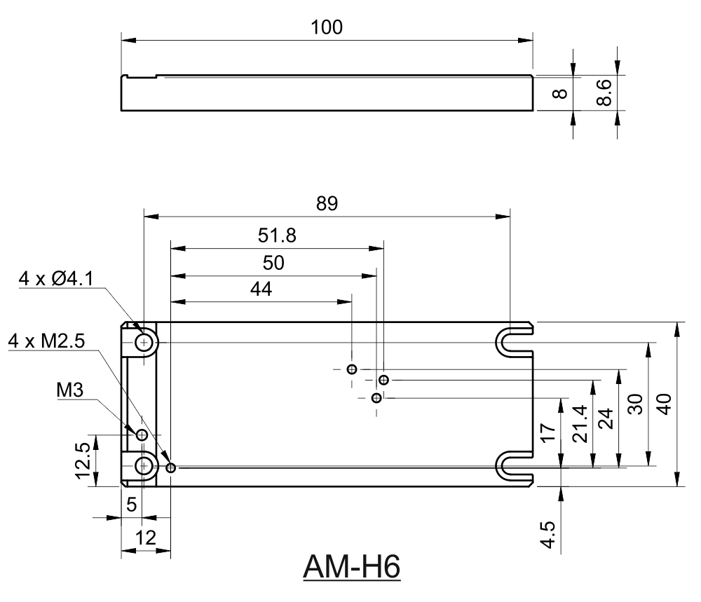 Drawing of Replacement Adapter for Coherent CUBE Type of Lasers